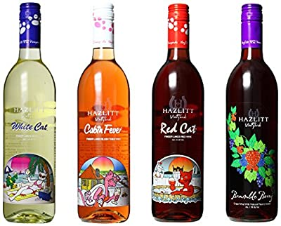 NV Hazlitt 1852 Vineyards Sweet Deal, Mixed Pack of 4 750ml Bottles of Wine from Hazlitt's Red Cat Cellars