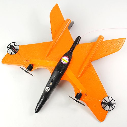 4ch Rc Simulation EPP Fighter Plane Gliding Eagle Airplane Model Orange