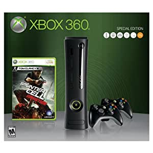 Amazon Com Xbox 360 250gb Elite Splinter Cell Conviction