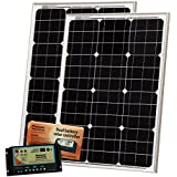 100W (50W+50W) Photonic Universe Solar Charging Kit Made Of German Solar Cells, With 10A Dual Battery Charge Controller...