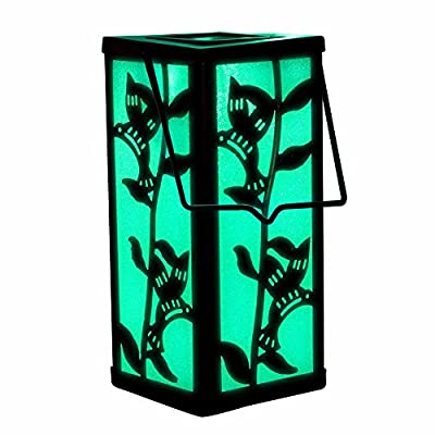 Solar Hanging Lantern Hummingbird Holiday Lighting Garden Decoration Outdoor Color Changing Light For Christmas Thanksgiving Celebration Home Patio Deck Lawn Yard Decor by SolarDuke
