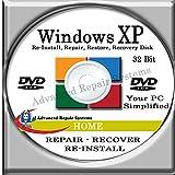 WINDOWS XP SYSTEM REPAIR & RE-INSTALL 32 Bit BOOT DISK: Repair & Re-install Windows XP HOME (Repair-Restore-Reinstall)