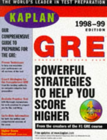 KAPLAN GRE 1998 99 WITH CD ROM: GRADUATE RECORD EXAM (Kaplan Gre Exam (Book & CD-Rom))