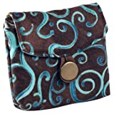 Brown and Aqua Swirls Tea Wallet