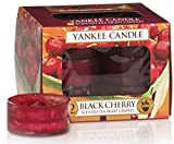 Yankee Candle 12-Piece Tea Light Candles, Black Cherry
