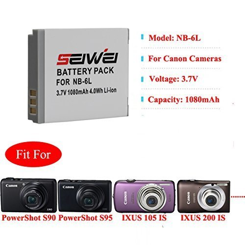 TOP-MAX® NB-6L NB6L Batterie Akku für Canon Powershot SX240 HS SX260 HS