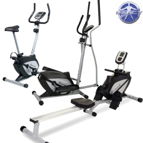 Marcy Home Gym Package - Exercise Bike, Elliptical Cross Trainer and Rowing Machine