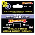 Arrow Fastener 306 3/8-Inch Thin Wire Staples for T30