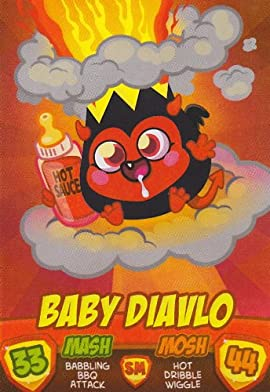 BABY DIAVLO Monsters - Series 2 Moshi Monsters Mash Up Trading Card.