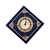 VarEesha Handcrafted Blue Dhokra Wall Clock