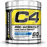 Cellucor C4 NEW FORMULA Icy Blue Razz 60 serv G4 Chrome with TeaCor