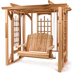 Cedar Pergola Swing Set from All Things Cedar