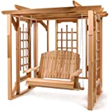 CEDAR ADIRONDACK Outdoor Chairs Tables and Patio Furniture Sets Garden Pergola with Swing
