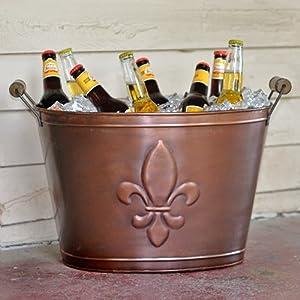 Fleur de Lis Bronze Beverage Tub by HomeWetBar