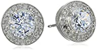 Sterling Silver Cubic Zirconia Round…