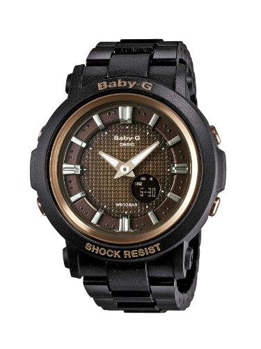 Casio BGA-301-1AER - Reloj analógico y digital de cuarzo para mujer con correa de resina, color negro