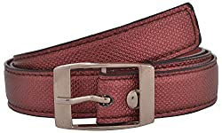 Exotique Women's Synthetic Belt (BW0004RD_38_Red)