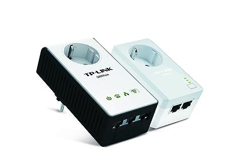 TP-LINK TL-WPA4230PKIT AV500 WiFi 300Mbps Pack de 2 Adaptateurs CPL (3 Ports Ethernet, Prise Intégrée)