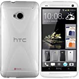 Mumbi X-TPU Protective Phone Case for HTC One Transparent White (Not Compatible with HTC One X / X+ / S / SV / V)