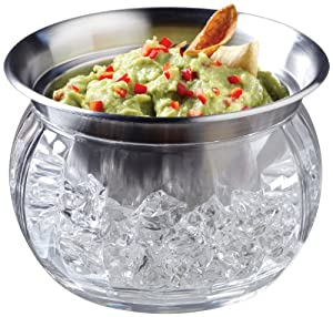 Amazon.com | Prodyne ICED Dip-on-Ice Stainless-Steel Serving Bowl