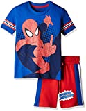 Amazing Spiderman Boys' T-Shirt (Pack of 2) (HK0EPS1866_Royal Blue and Scarlet_4/5)