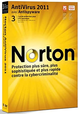 Norton antivirus 2011 (3 postes, 1an)