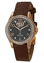 Bulova Accutron Kirkwood Diamond Ladies Brown Stingray Automatic Watch 65R112