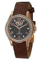 Bulova Accutron Kirkwood Diamond Ladies Brown Stingray Automatic Watch 65R112