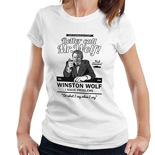 Better Call Mr Wolf Pulp Fiction Women's T-Shirt