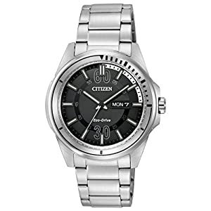 Citizen Men's AW0031-52E Drive from Citizen HTM Analog Display Japanese Quartz Silver Watch