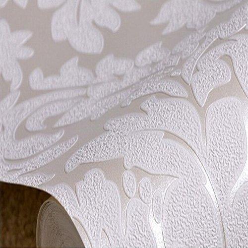 Qihang european vintage luxury damask wall paper pvc for Wallpaper home hardware