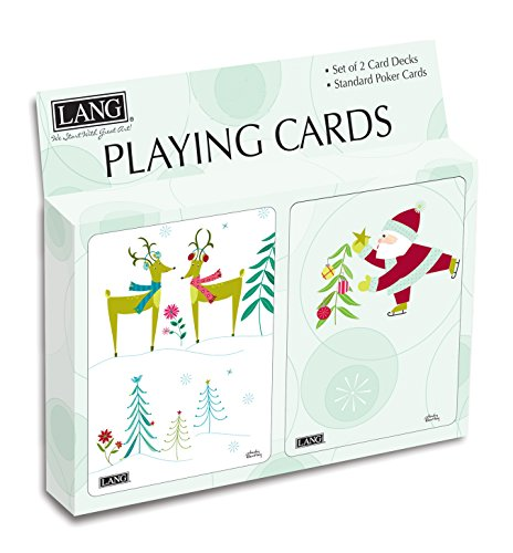 Lang Christmas Whimsy Playing Cards by Wendy Bentley (Set of 2)