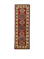 Eden Carpets Alfombra Uzebekistan Super Rojo/Crema 177 x 59 cm