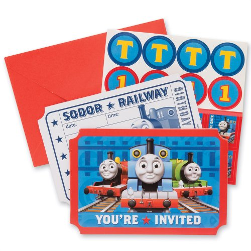 Thomas The Train Party Invitations - Party Supplies - 8 per Pack