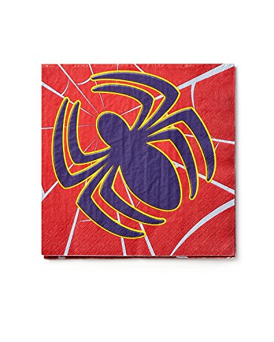 American Greetings Spider-Man Lunch Napkins, 16 Count, Party Supplies Novelty