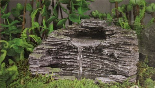 "Fiddlehead Fairy Garden ""Granite Grotto"" Fountain With Pump #16908"