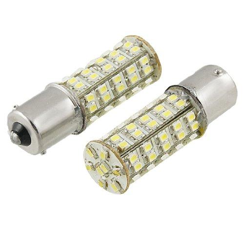 Amico 2 Pcs White 1156 P21W Ba15S 68 Smd Led Brake Tail Turn Signal Rear Light Bulb Lamp