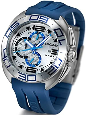 Locman Mens Mare Titanium Water Resistant Watch Blue 138SLBL