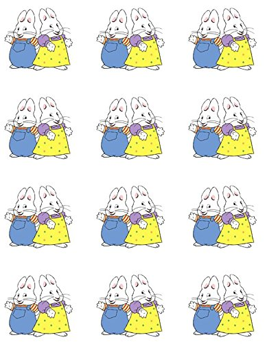 Max and Ruby Edible Cupcake Toppers - Set of 12