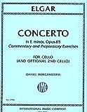 img - for Elgar: Concerto in E minor, Op. 85 - Cello book / textbook / text book