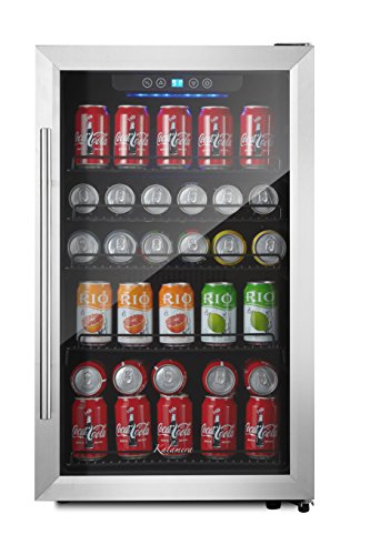Kalamera 150-can Beverage Refrigerator Stainless Steel Touch Control (Glass Front Door Refrigerator compare prices)