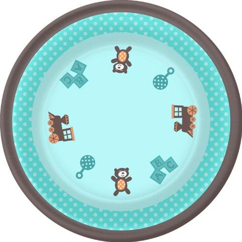 Boy Oh Boy! Baby Shower Dessert Plates front-974699