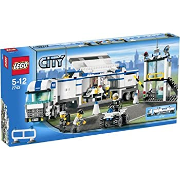 Pas cher lego 7743 city jeux de construction le - Camion de police lego city ...