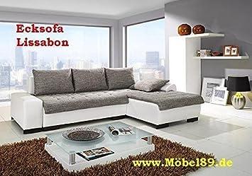 Ecksofa Lissabon mit Bettfunktion Eckcouch Sofa Couch