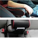 DongZhen 汎用 形状記憶 自動車 アーム レスト パッド 車 肘掛け 小物入れ 付き クッション コンソール パッド ホワイト ブラック ブラウン