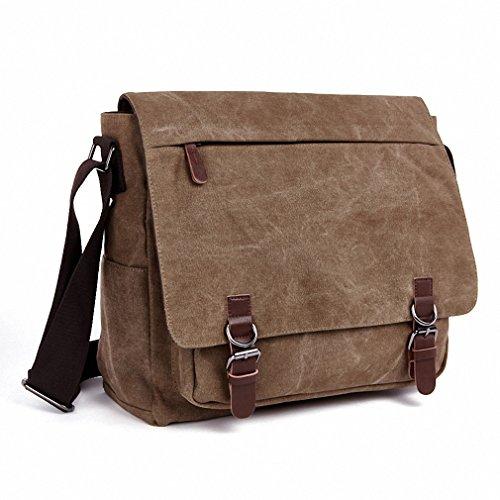 Bolsa De Ombro Masculina Vintage : Kenox vintage classic canvas laptop messenger bag