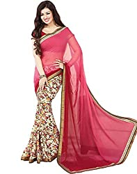 Vastram Online Shop Women's Georgette Saree (50_Multicolor)