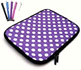 Emartbuy® Bundle Pack of 5 Capacitive Resistive Touchscreen Stylus Pen & Polka Dots Red / White ( 10-11 Inch Tablet / eReader / Netbook ) Water Resistant Neoprene Soft Zip Case Cover Sleeve suitable for Acer Iconia A3-A10 Tablet ( 10-11 Inch Tablet )