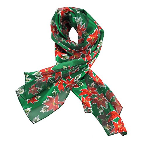 Absolute Stores Green Poinsettia Ladies Scarves