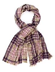M&S Collection Bouclé Checked Scarf